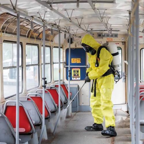 Dezinfekce vozidla tramvaje