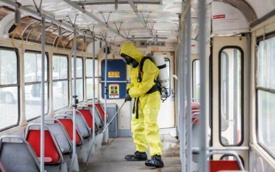 Dekontaminace vozidla tramvaje