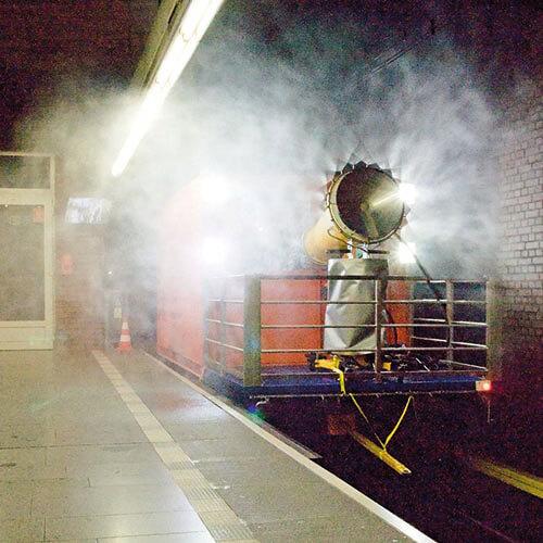 Dezinfekce tunelu metra