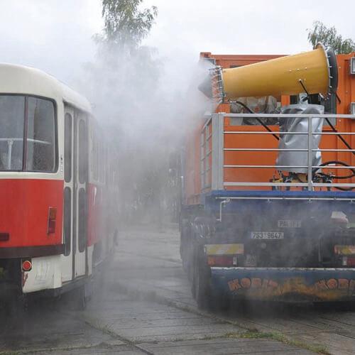 Dezinfekce vozu tramvaje