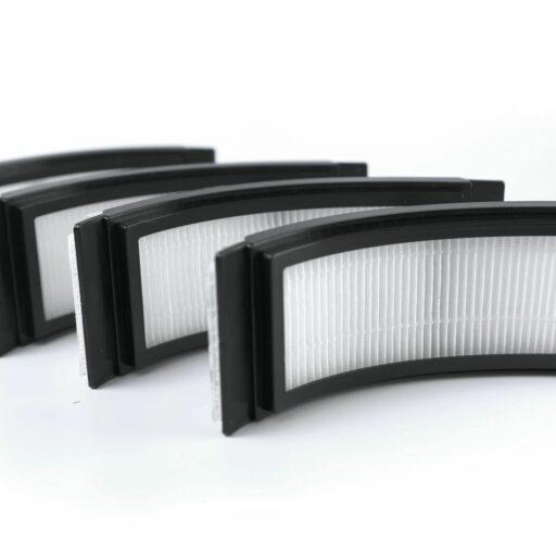 Náplň 4 kusů výměnných rámečkových HEPA 11 filtrů. Obměna filtrů při aktivním používání ochranné kukly AIR je doporučená v rozmezí 3-4 měsíců